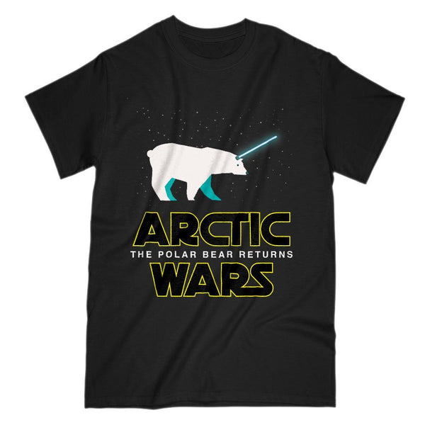 Arctic Wars, The Polar Bear Returns Parody Space Wars Graphic Tee Graphic T-Shirt Tee BOXELS