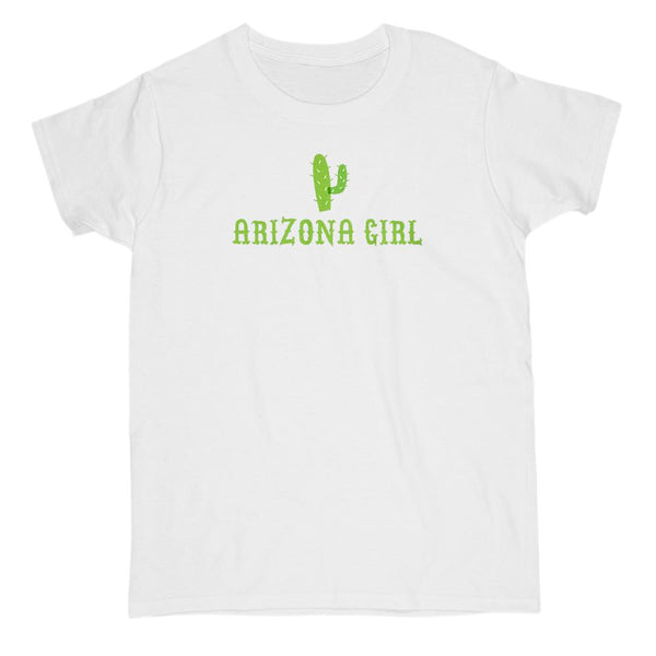 Arizona State Girl Cactus T-shirt Graphic T-Shirt Tee BOXELS