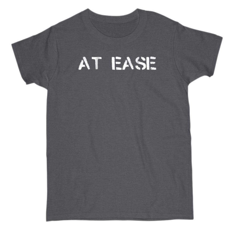 At Ease Graphic Saying T-Shirt Graphic T-Shirt Tee BOXELS