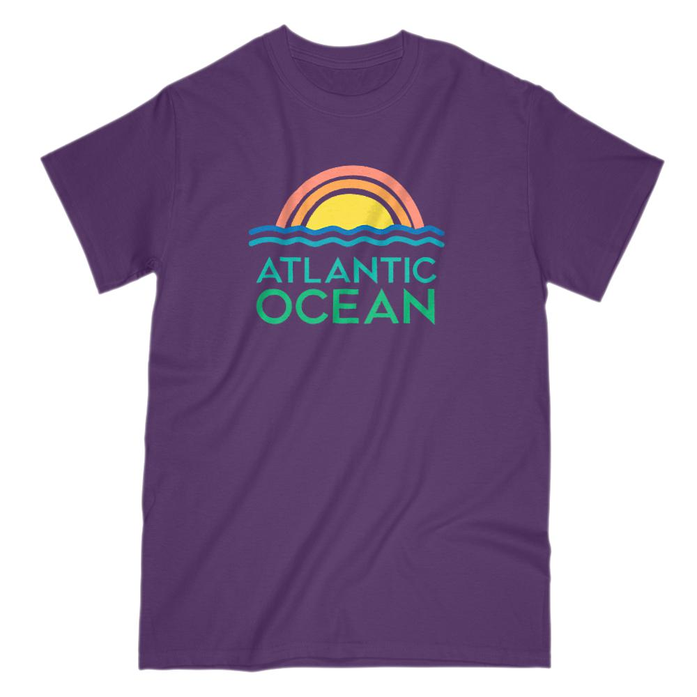 Atlantic Ocean Retro Sunset Ocean T-Shirt Graphic T-Shirt Tee BOXELS
