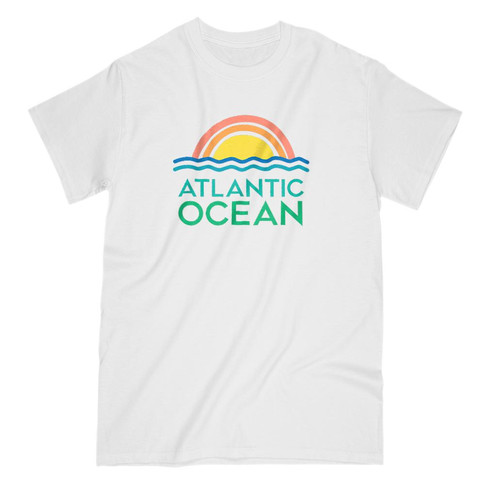 Atlantic Ocean Retro Sunset Ocean T-Shirt