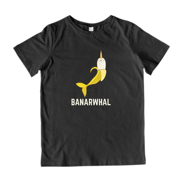 Banarwhal (kids) Banana Narwhal Fun Graphic Tee Graphic T-Shirt Tee BOXELS