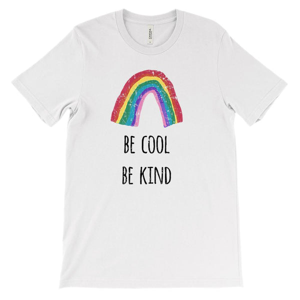 Be Kind Be Cool Rainbow (BC 3001 Soft Unisex) Graphic T-Shirt Tee BOXELS