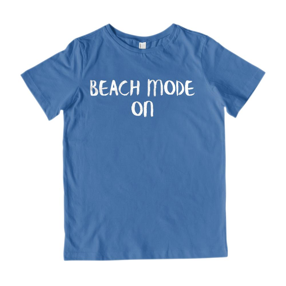 Beach Mode On Vacation (kids) T-shirt Graphic T-Shirt Tee BOXELS