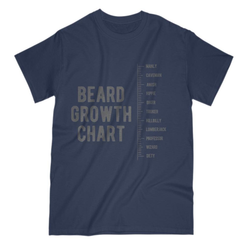 Beard Growth Chart Manly to Deity Graphic T-Shirt Graphic T-Shirt Tee BOXELS