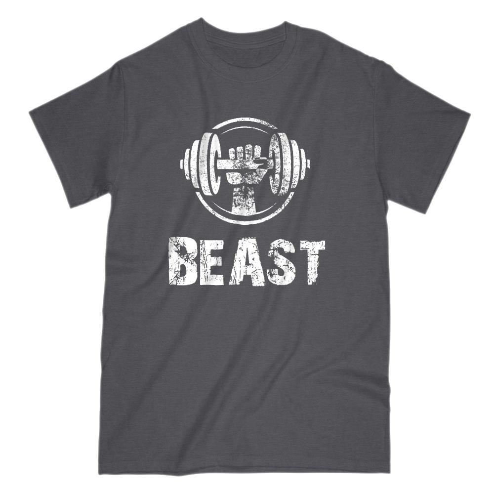Beast Weight Lifting Graphic T-Shirt Tee BOXELS