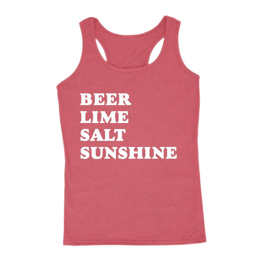 Beer Lime Salt Sunshine Graphic Saying Tank (women) Graphic T-Shirt Tee BOXELS