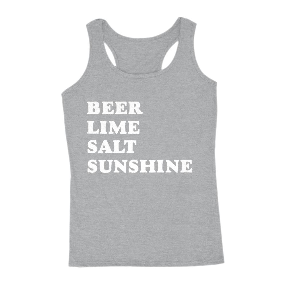 Beer Lime Salt Sunshine Graphic Saying Tank (women)