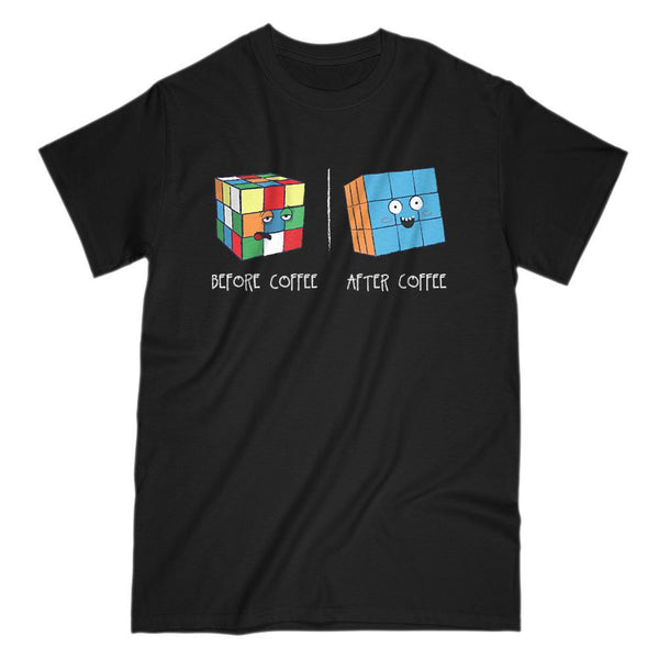 Before and After Coffee Cubes Graphic Tee Graphic T-Shirt Tee BOXELS