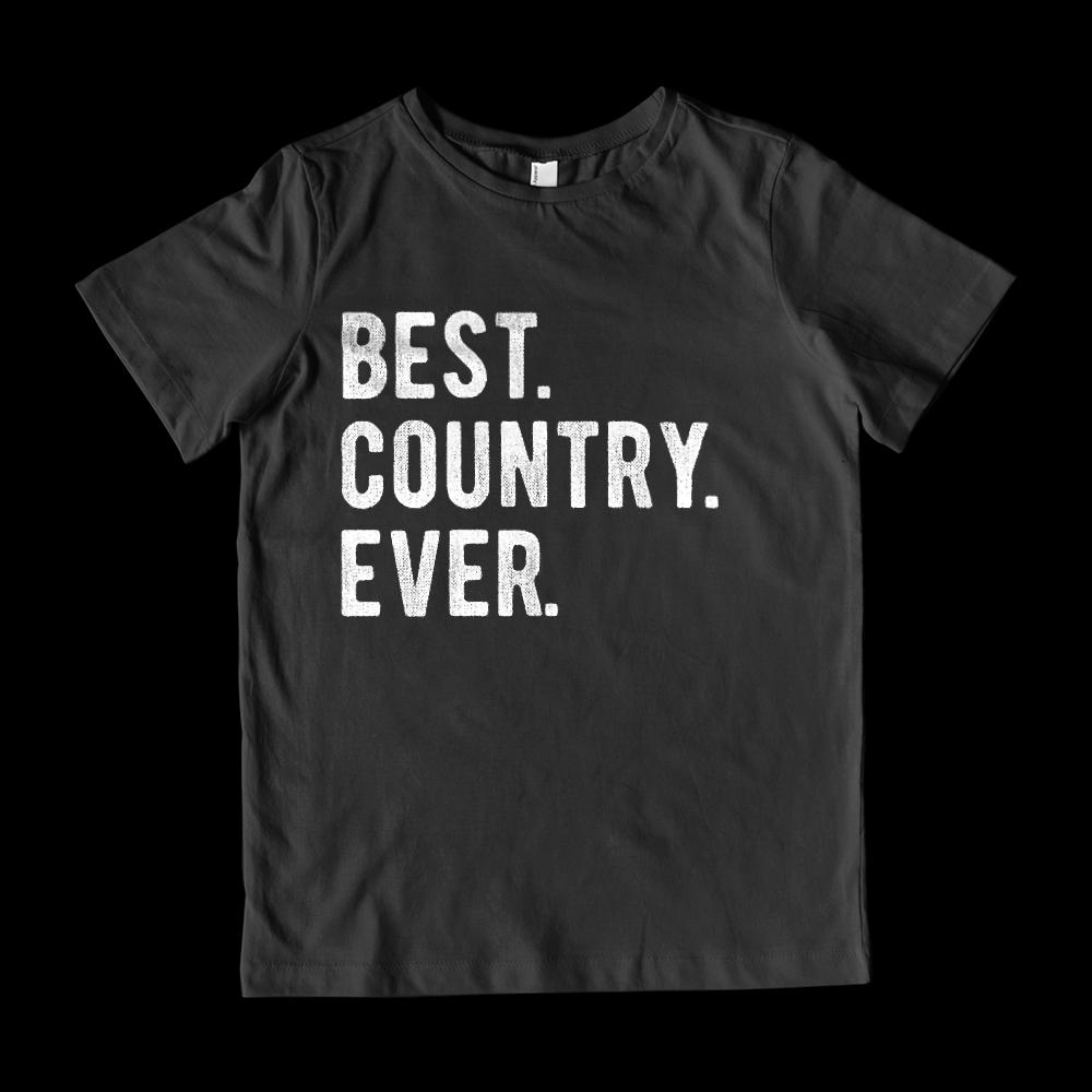 Best Country Ever Kids Patriotic Graphic T-Shirt