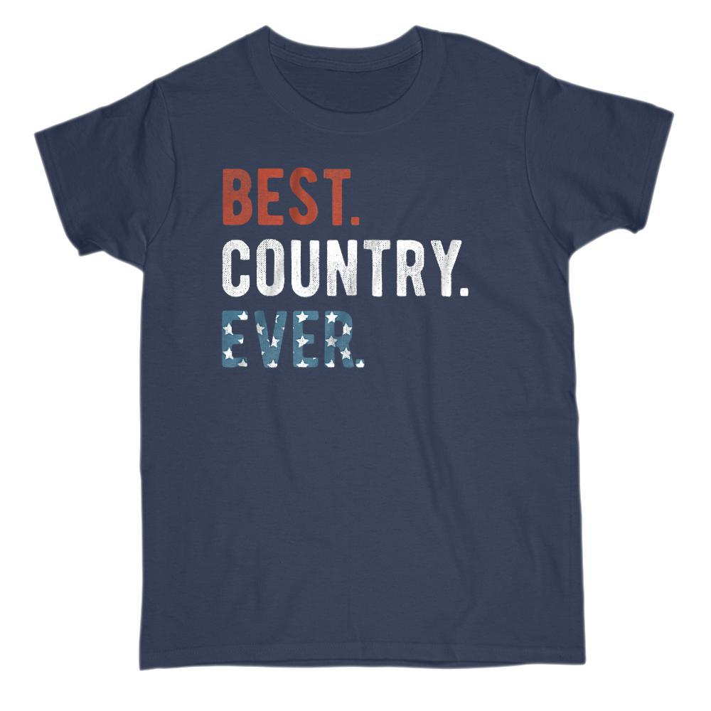 Best. Country. Ever. Patriotic Ameriacn Flag T-shirt Graphic T-Shirt Tee BOXELS