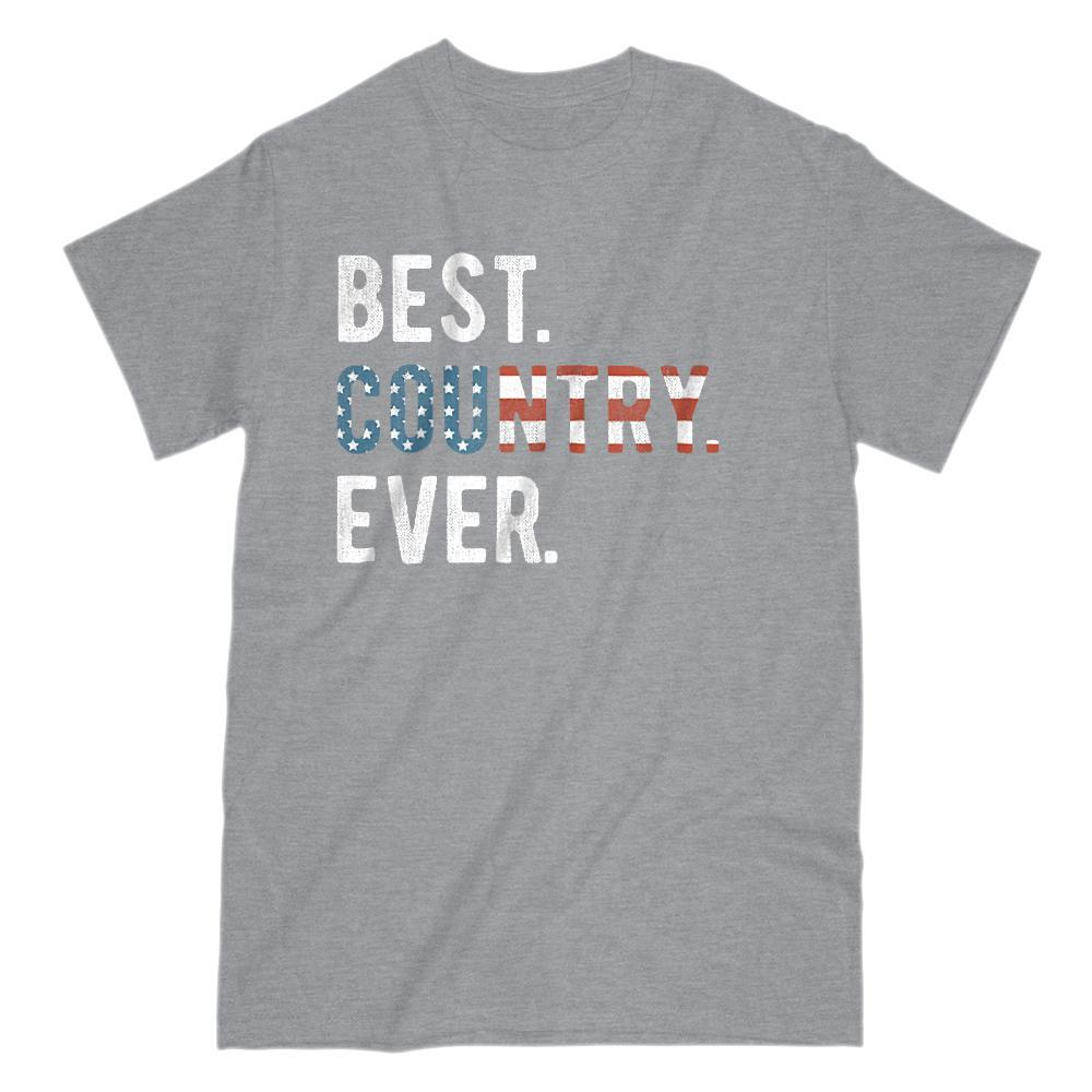 Best. Country. Ever. Patriotic. USA Flag Graphic T-Shirt Graphic T-Shirt Tee BOXELS