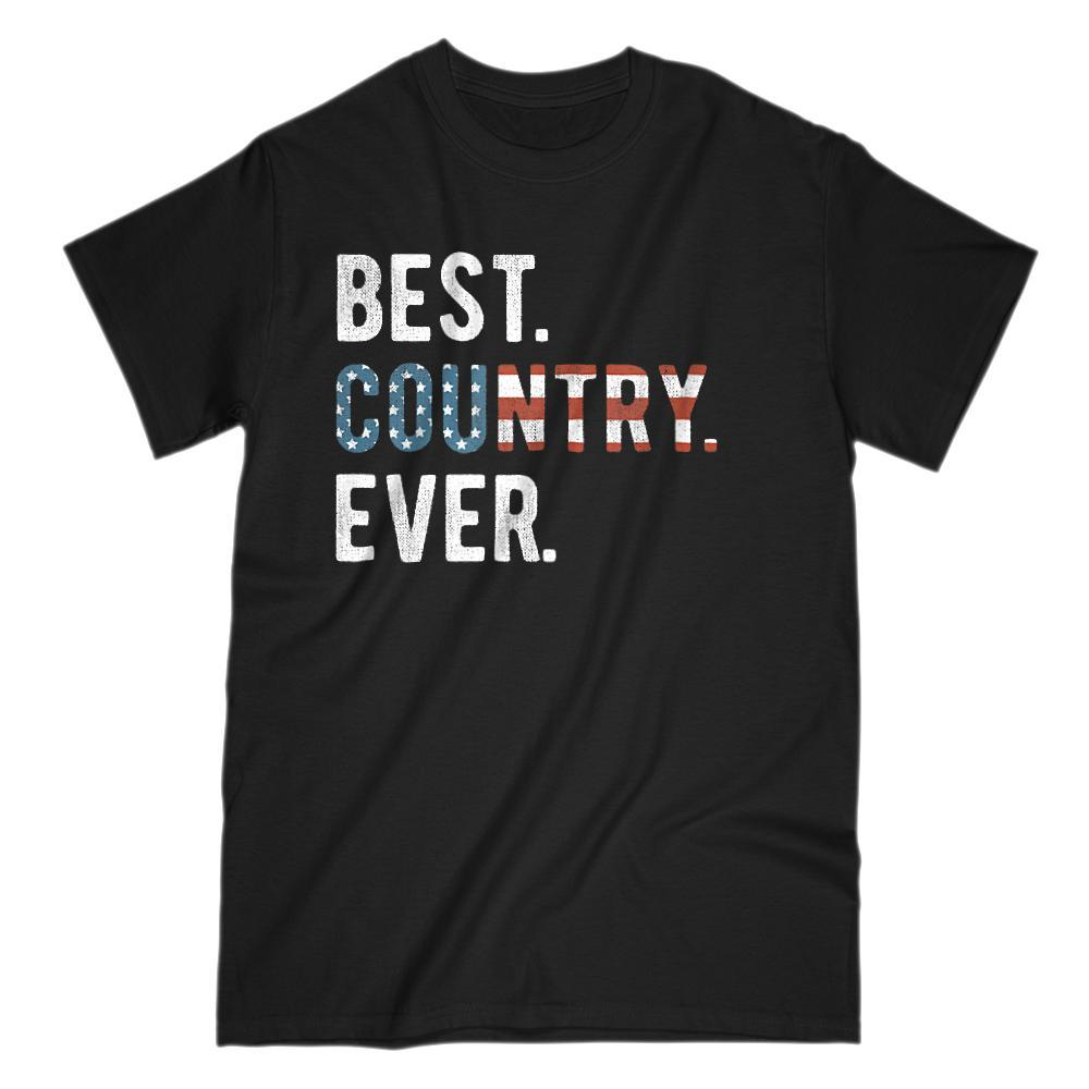 Best. Country. Ever. Patriotic. USA Flag Graphic T-Shirt