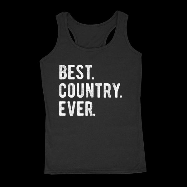 Best. Country. Ever. Patriotic (Women's Tank) Graphic Tee Graphic T-Shirt Tee BOXELS