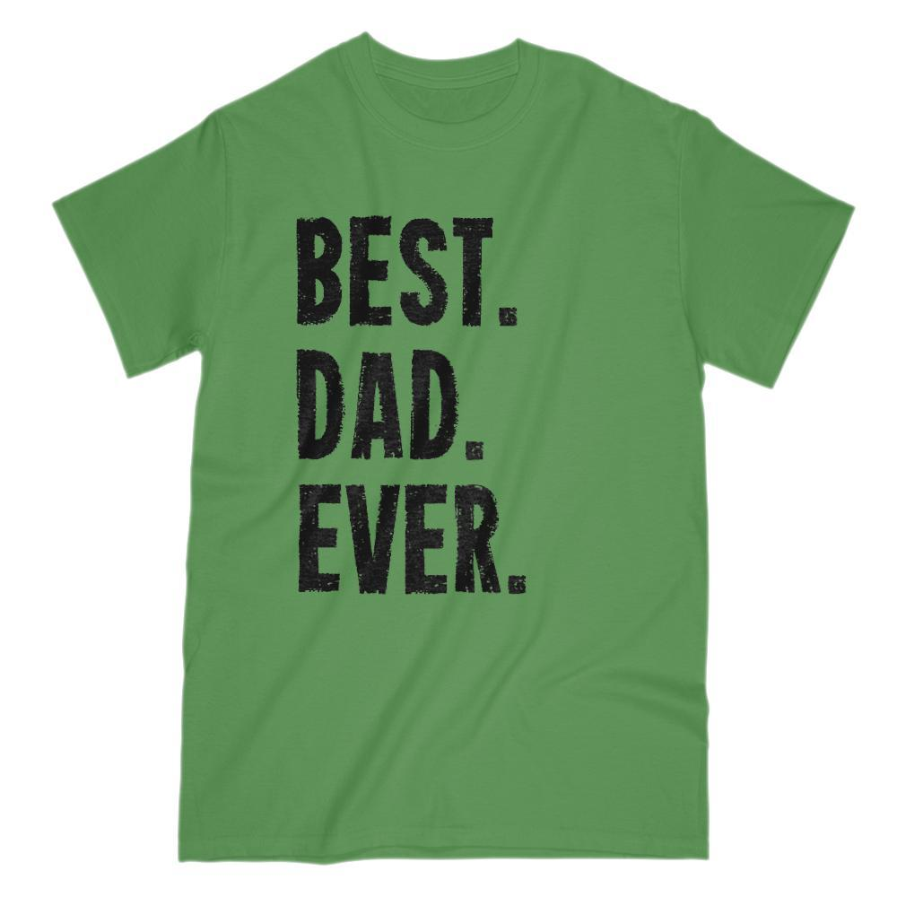 Best Dad Ever Grunge Graphic Father's Day Birthday Gift T-Shirt Black Font Graphic T-Shirt Tee BOXELS
