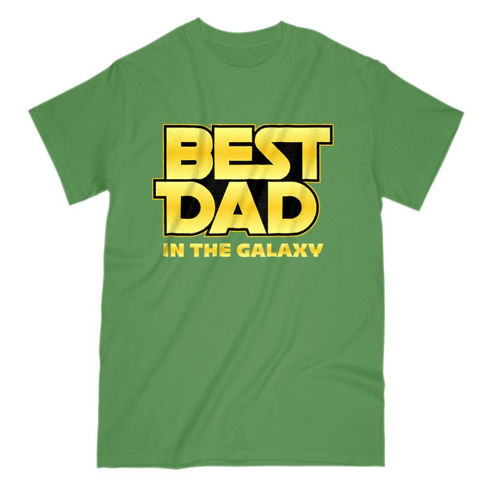 Best Dad in the Galaxy Parody Space War Stars Graphic Tee Graphic T-Shirt Tee BOXELS