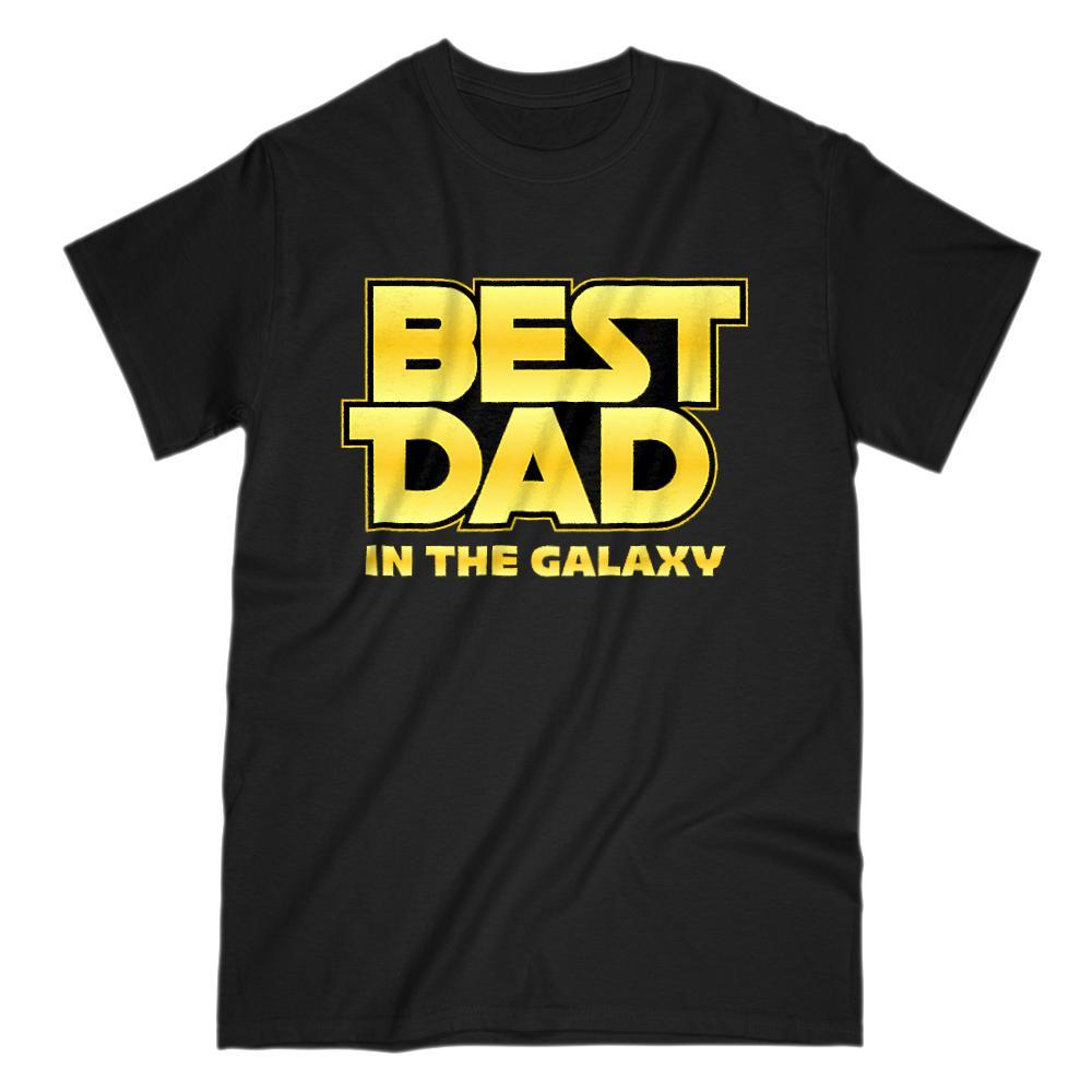 Best Dad in the Galaxy Parody Space War Stars Graphic Tee