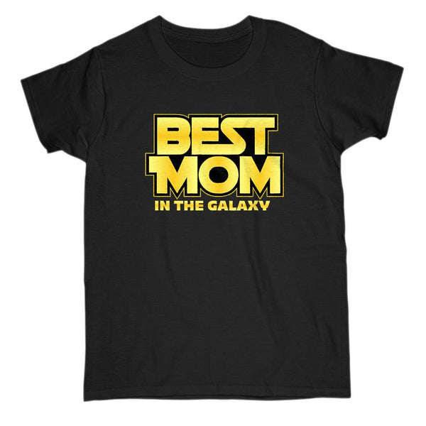 Best Mom in the Galaxy Parody Space War Stars Graphic Tee Graphic T-Shirt Tee BOXELS