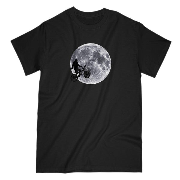 Big Foot Moon Bike Extra Terrestrial Parody T-shirt Graphic T-Shirt Tee BOXELS