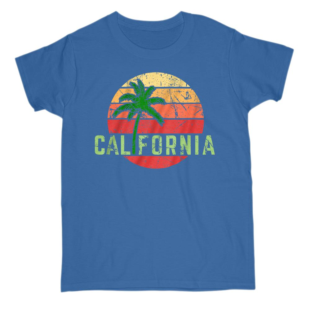 California Beach Palm Sunset Vacation T-shirt (adults) Graphic T-Shirt Tee BOXELS