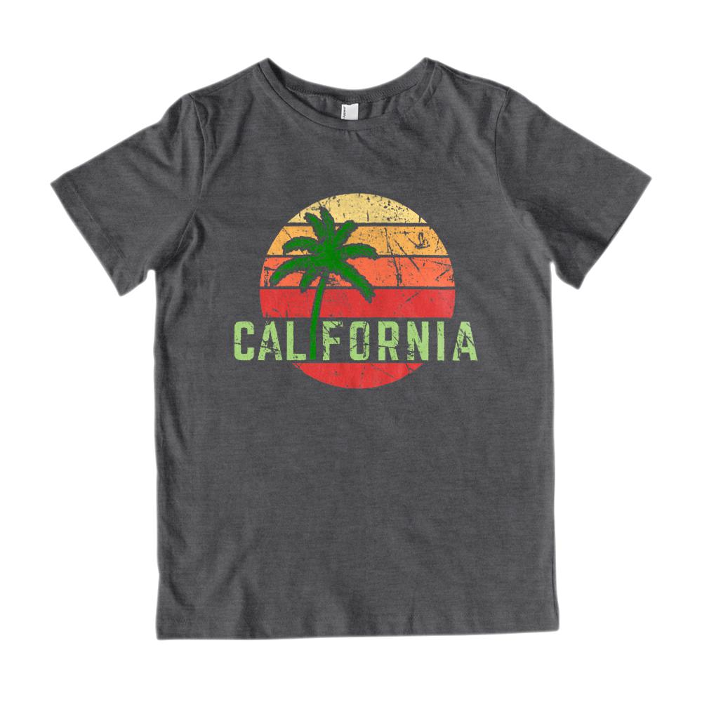 California Sunset (kids) Beach palm Tee Graphic T-Shirt Tee BOXELS