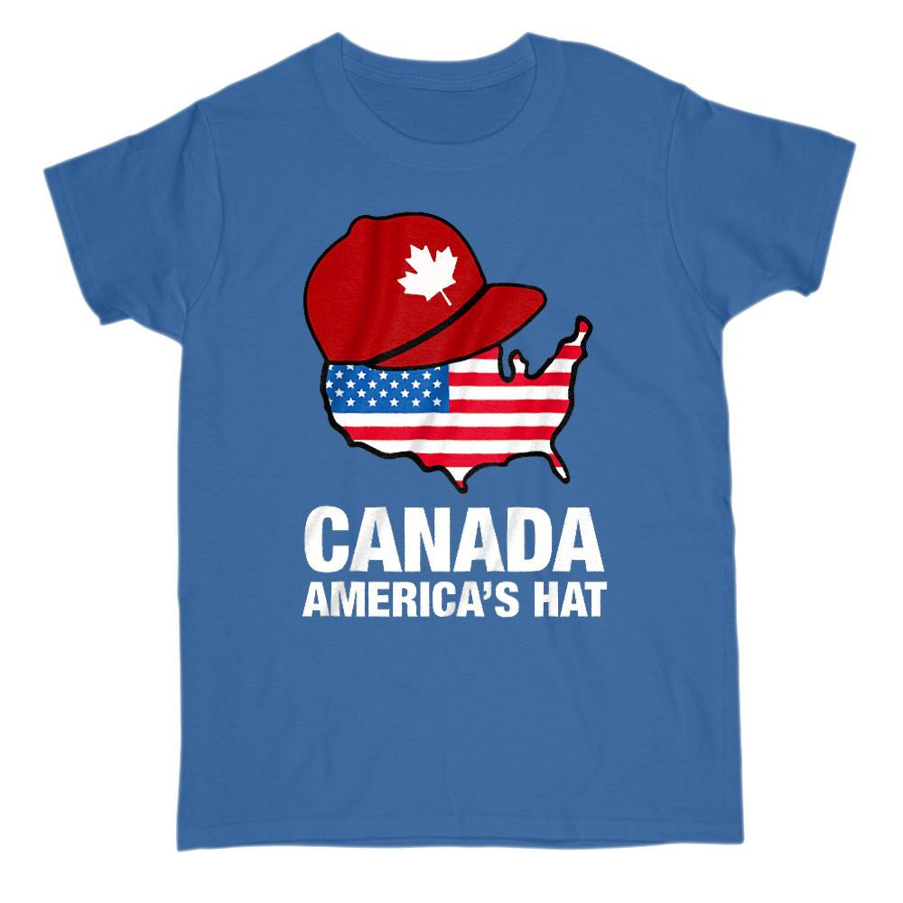 Canada America's Hat Patriotic Graphic T-Shirt Graphic T-Shirt Tee BOXELS