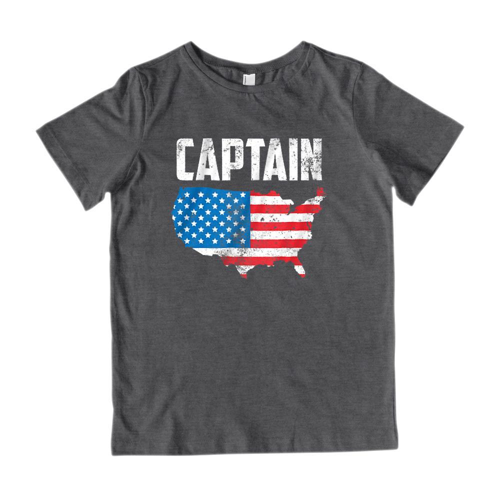 Captain America USA Patriotic Graphic T-shirt Graphic T-Shirt Tee BOXELS