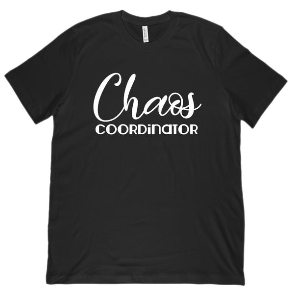 Chaos Coordinator (white font) Teach Mom Leader (Unisex BC 3001 Soft Tee) Graphic T-Shirt Tee BOXELS