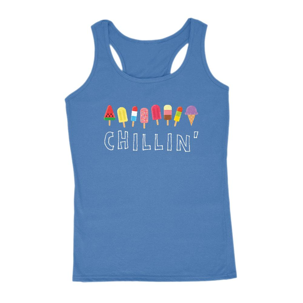 Chillin' Popsicle Women's Outdoors Tank Graphic T-Shirt Tee BOXELS