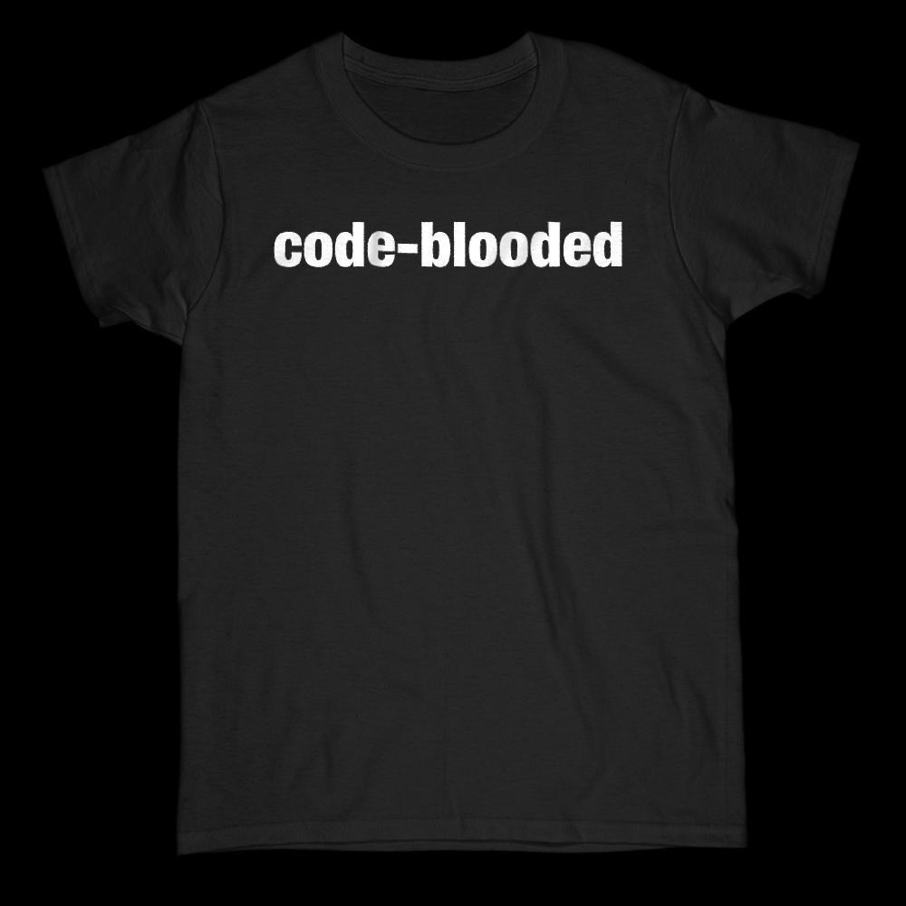 Code Blooded Coder Graphic Saying Graphic T-Shirt Tee BOXELS