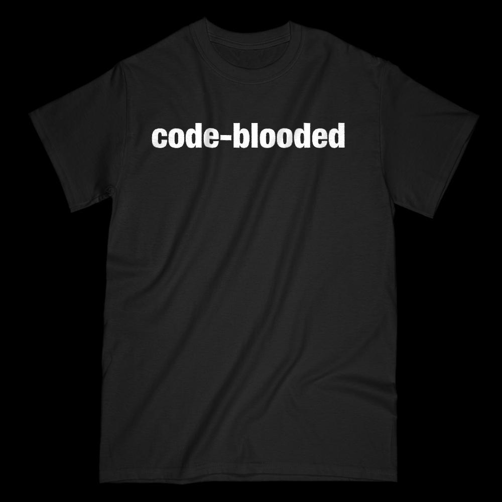 Code Blooded Coder Graphic Saying