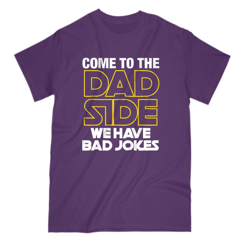 Come to the Dad Side Bad Jokes Space Wars Star Parody (Men's Unisex) T-Shirt Graphic T-Shirt Tee BOXELS