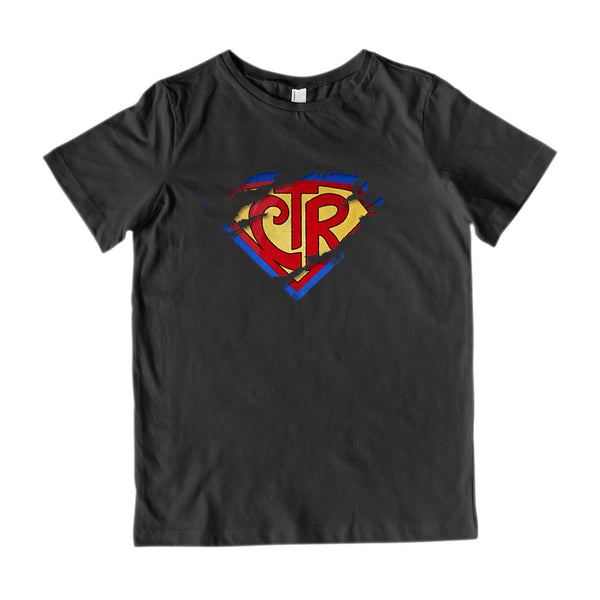 CTR Ripped Choose The Right Christian Super Hero (Kid's Gildan Cotton Tee) Graphic T-Shirt Tee BOXELS