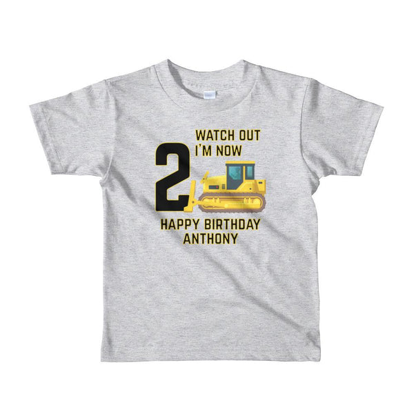 Custom Toddler Happy Birthday Anthony Short sleeve kids t-shirt Graphic T-Shirt Tee BOXELS