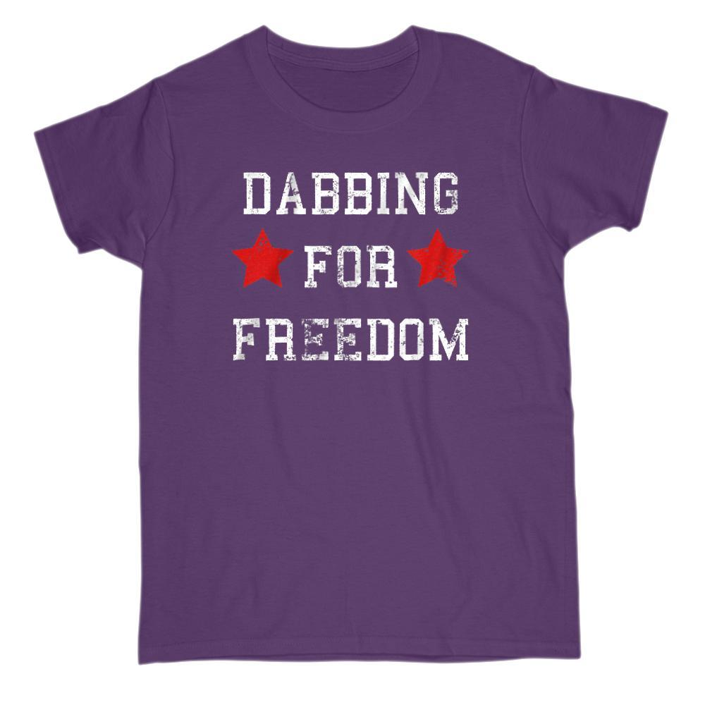 Dabbing for Freedom Patriotic Grunge Star T-Shirt Graphic T-Shirt Tee BOXELS