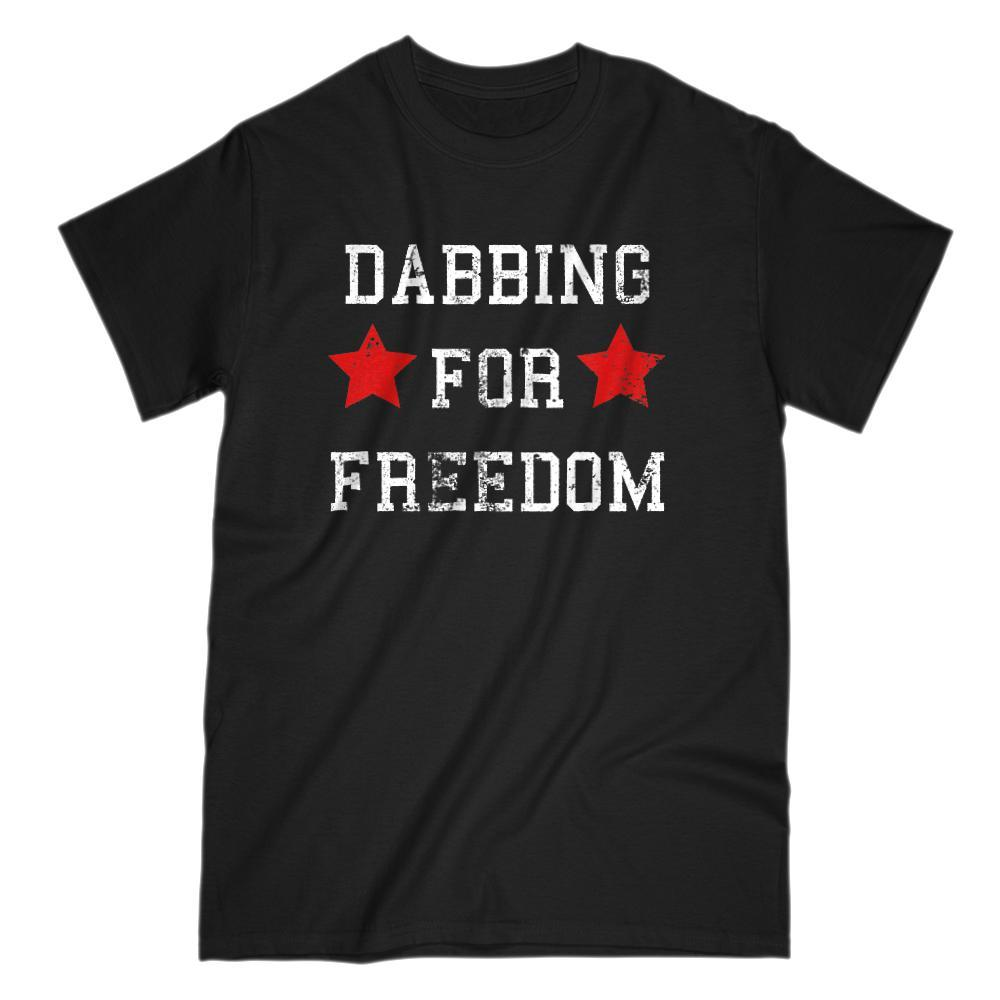Dabbing for Freedom Patriotic Grunge Star T-Shirt