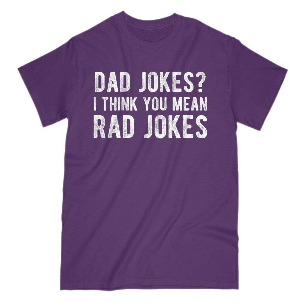 Dad Jokes? I Think You Mean Rad Jokes (white font) Funny Graphic Tee Graphic T-Shirt Tee BOXELS