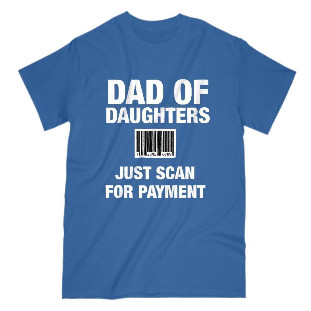 Dad of Daughters Scan Barcode for Payment Graphic T-Shirt