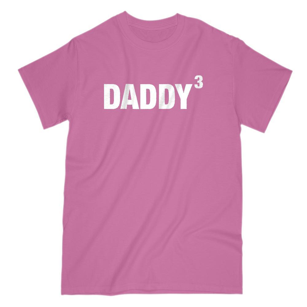 Daddy Cubed (Kids to the 3rd Power) Funny Graphic Father's Day Tee Graphic T-Shirt Tee BOXELS