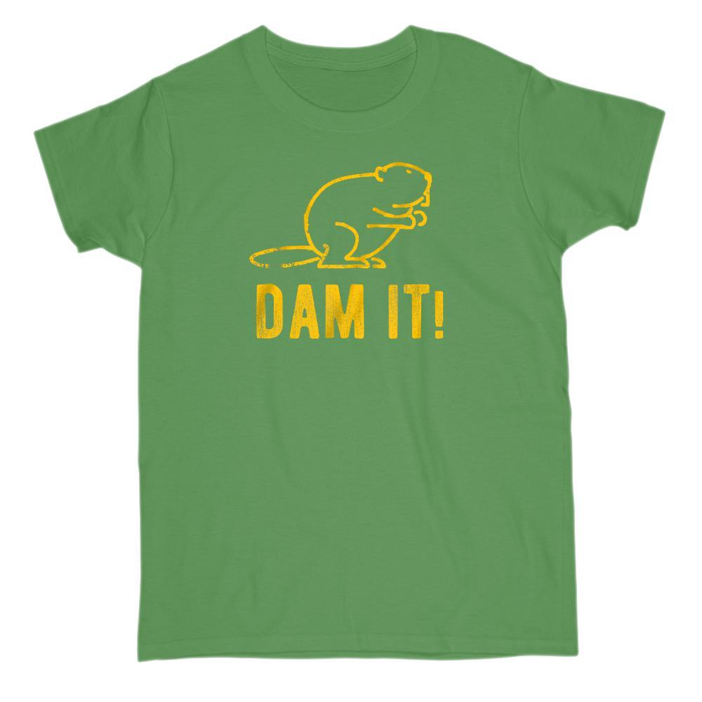 Dam it! Funny Beaver Graphic Tee Graphic T-Shirt Tee BOXELS
