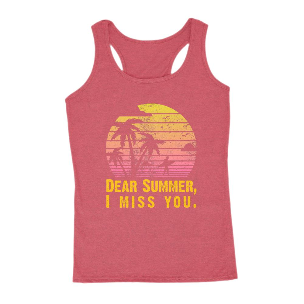 Dear Summer I Miss You Sunset Palms Beach (women's Gildan Tank) Graphic T-Shirt Tee BOXELS
