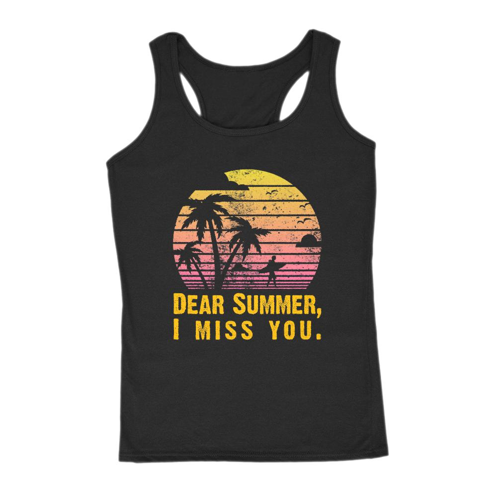 Dear Summer I Miss You Sunset Palms Beach (women's Gildan Tank)