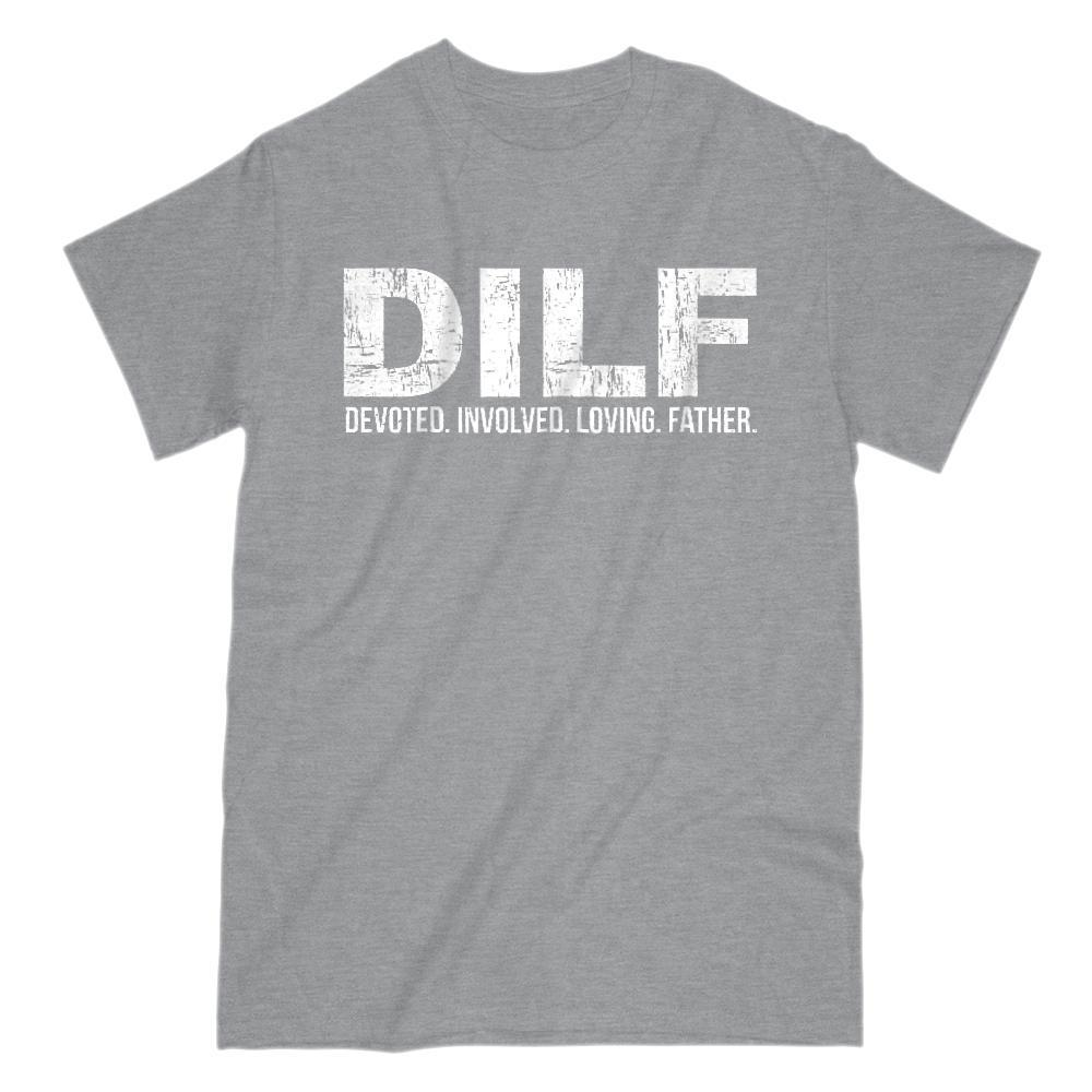 DILF Devoted. Involved. Loving. Father. Graphic T-Shirt Tee BOXELS