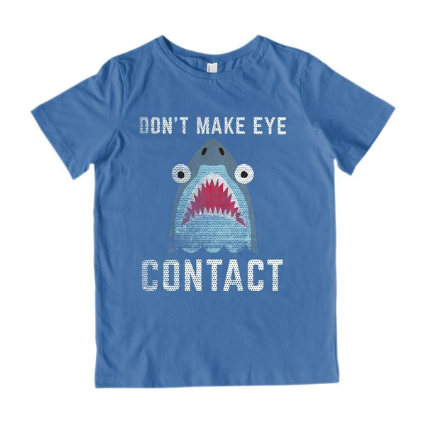Don't Make Eye Contact Shark Outdoors Beach (Kids) Graphic Tee Graphic T-Shirt Tee BOXELS