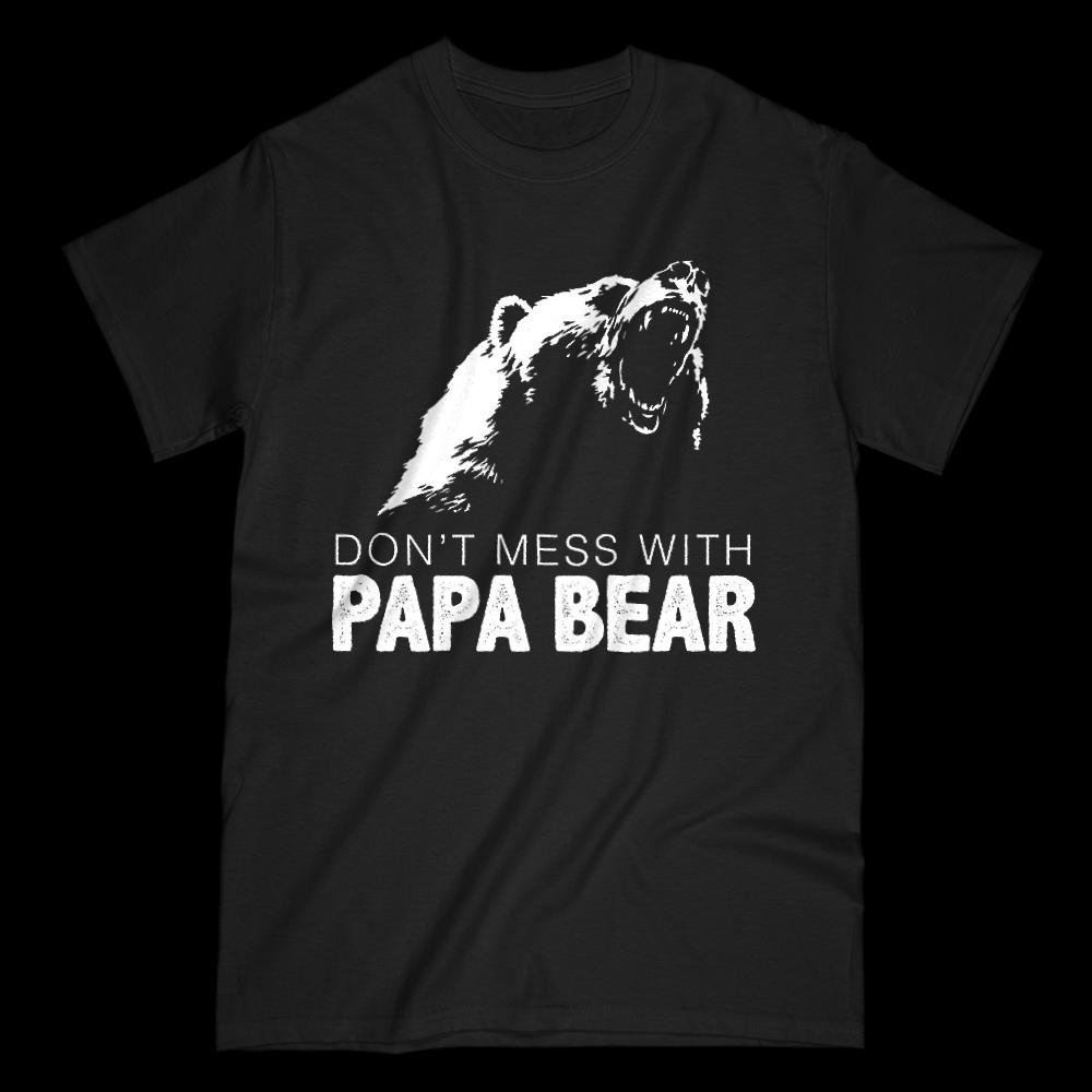 Don't Mess With Papa Bear Graphic T-Shirt Graphic T-Shirt Tee BOXELS