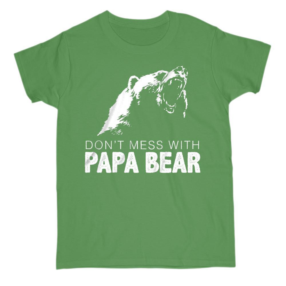 Don't Mess With Papa Bear v2 Graphic T-Shirt Tee BOXELS