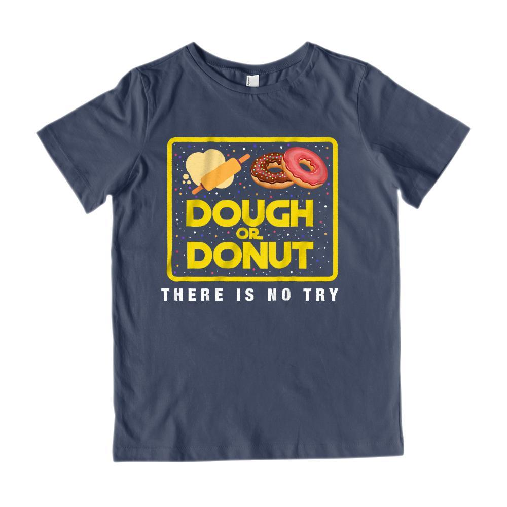 Dough (do) or Donut (Do Not) There Is No Try Wars Star Space Parody (Adults, Kids) Graphic T-Shirt Tee BOXELS