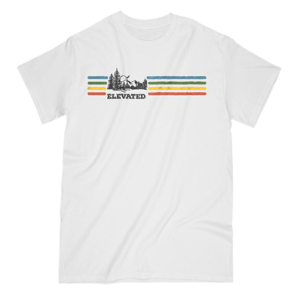 Elevated Outdoors Rainbow Retro Tee Graphic T-Shirt Tee BOXELS