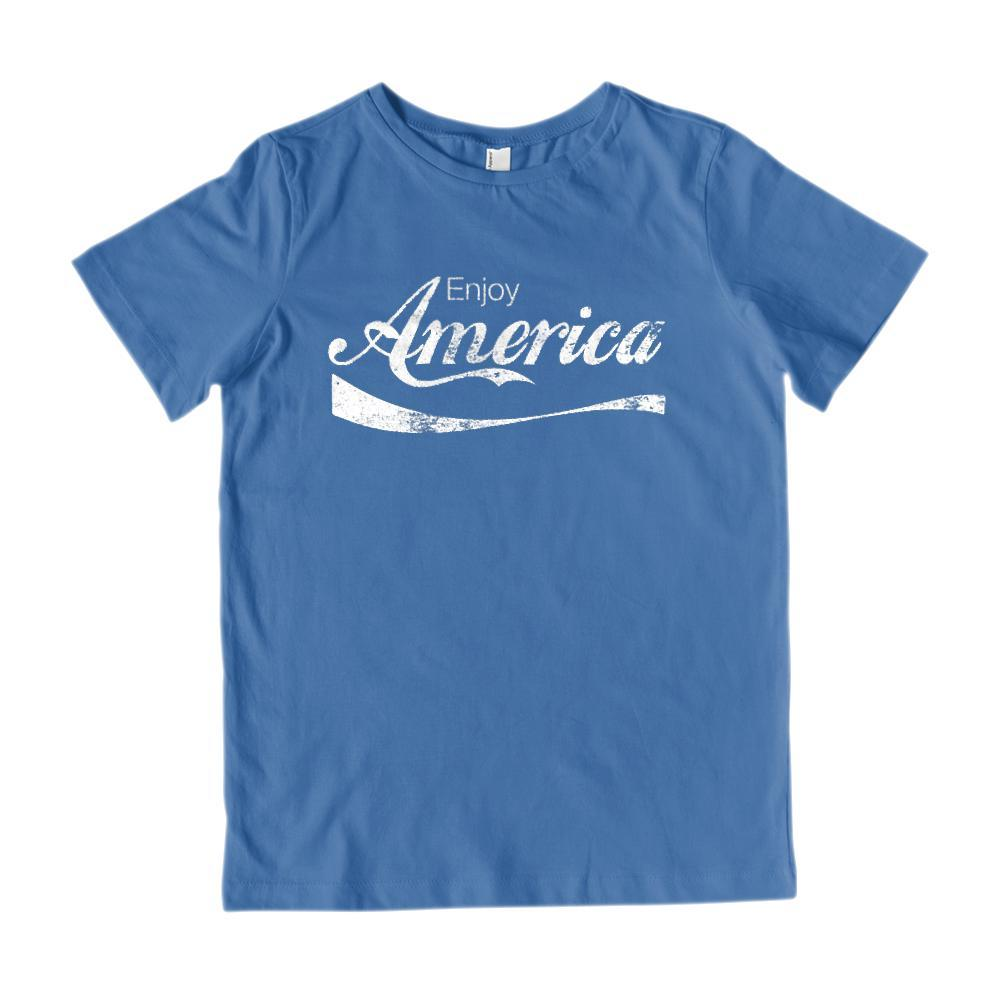 Enjoy America Refreshing Drink Parody Patriotic Graphic T-Shirt Graphic T-Shirt Tee BOXELS