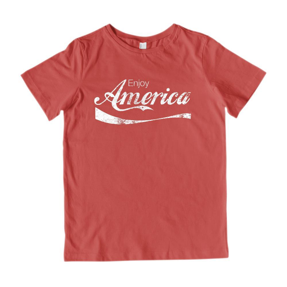 Enjoy America Refreshing Drink Parody Patriotic Graphic T-Shirt